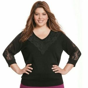 NWT Lace Sweater - 3/4 Sleeve